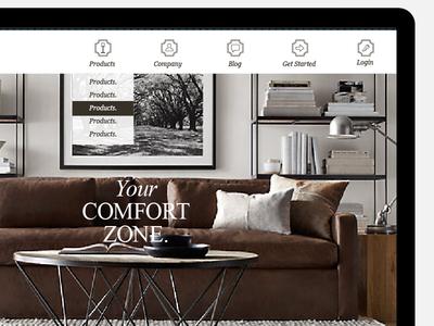 Website menu platform 7