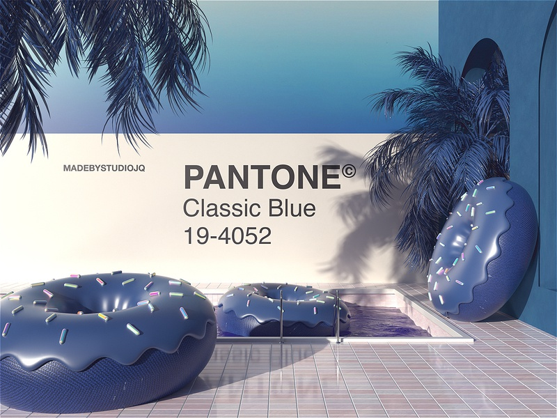 The Classic Blue | Chill-out Zone | Part II type branding typography chill classicblue octane cinema4d render 2020 pantone