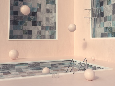 Three Pools design illustration color render octanerender surrealism surrealist octane cinema4d poster surreal art surreal