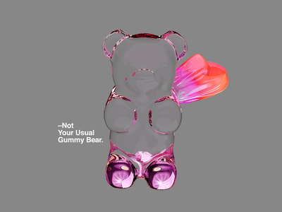 Not Your Usual Gummy Bear. motion sweets surreal redshift gummybear animation