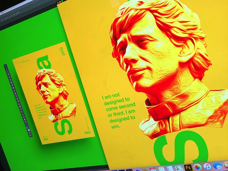 Show & Go l 464 | Aryton Senna photoshop photo adobe poster art poster a day brazil f1 senna art poster