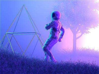 [Astro & The Universe] Caution gradient astronaut astro c4dr21 movie film interstellar scifi space octanerender octane c4d