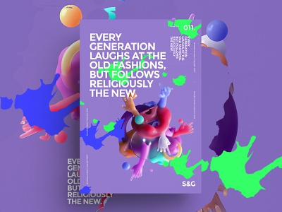 Show&Go2020™ 011 | Every Generation illustration color type typography poster a day digital 3d art posterdesign posters octane cinema4d 3d poster
