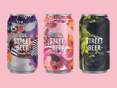 FEEL THE VIBE | STREET BEER photoshop street grunge art beerart packaging packagedesign illustration beercan beer