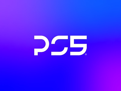 PS5 logotype mark icon ps4 sony gaming gamer gradient logo ps5logo ps5