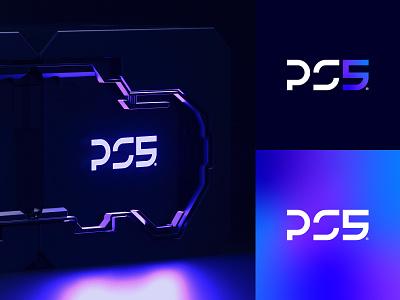 PS5 logomarks ps5logo gradient prototype 2020 gamer gaming sony logomark logo playstation ps5