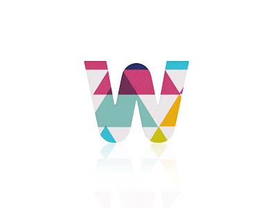 W (Concept 2) logo branding identity texture colour logomark
