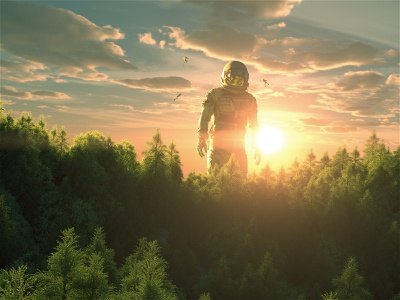 [Astro & The Universe] The Calling. illustration digital film poster art octane cinema4d movie film scifi sci space astronaut