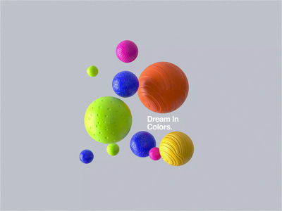 Dream In Colors maxon abstract motion type motiondesigner motiondesign color softbody cinema4d redshift web ui web