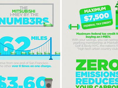Numb3rs - Mitsubishi i-MiEV info graphics 2 web economical econimcal energy green texture illustration mitsubishi infographic info graphic info graphics infographics