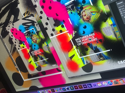 Show&Go2020™ 029 | Discovery. vibrant gradient illustration procreate posterart type collage poster art poster