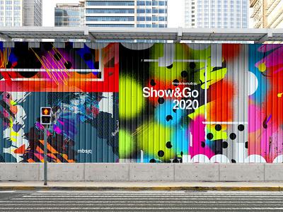 S&G Mural vibrant color type graffiti digital muralart graffiti adobe photoshop poster collage mural