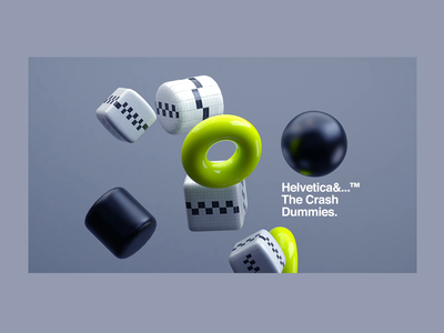 Helvetica&...™ The Crash Dummies. motiondesign helvetica type animation c4dr21 crash redshift cinema4d header website builder websites website motion