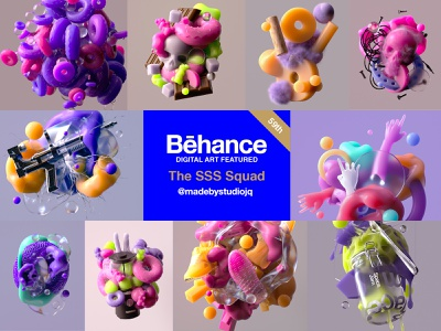 Behance Featured | Digital Art abstract art featured image behancereviews 3d art web 3d octane cinema4d digitalart digital featured behance