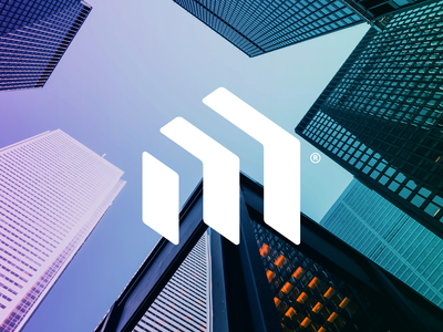M® finance real estate branding logotype symbol brand identity logo