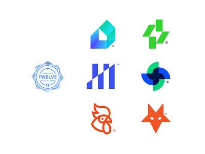 LogoLounge Book 12 monogram geometry modern logolounge branding logotype symbol brand identity logo