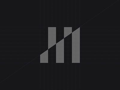 H® pattern graph statistics analytic chart corporate identity agency marketing mark branding logotype symbol brand identity logo
