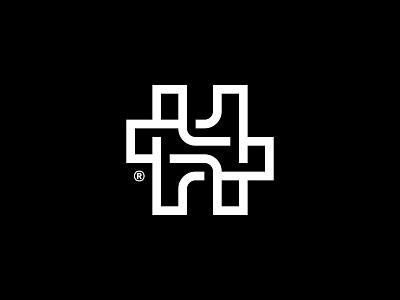 HT technology mark monogram letter branding logotype symbol brand identity logo