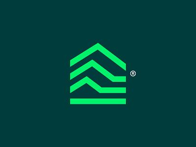 Marketing House house teamwork marketing business card stationary montain lodge technology finance branding logotype symbol brand identity logo