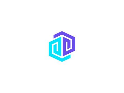 Mind minimal brain mind geometric identity monogram symbol mark letter brand logo