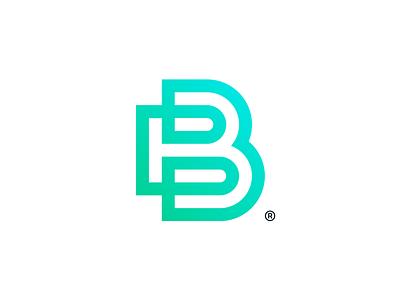 B® tecnology stationary mark branding logotype symbol brand identity logo