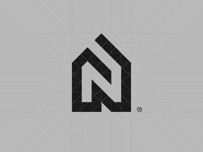 N® grid art direction architecture mark branding logotype symbol brand identity logo