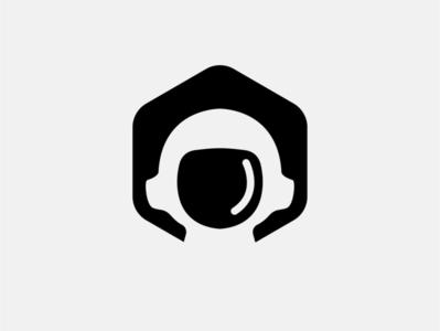 The Astronaut spaceship spaceman space astronaut vector flat minimal logo design branding