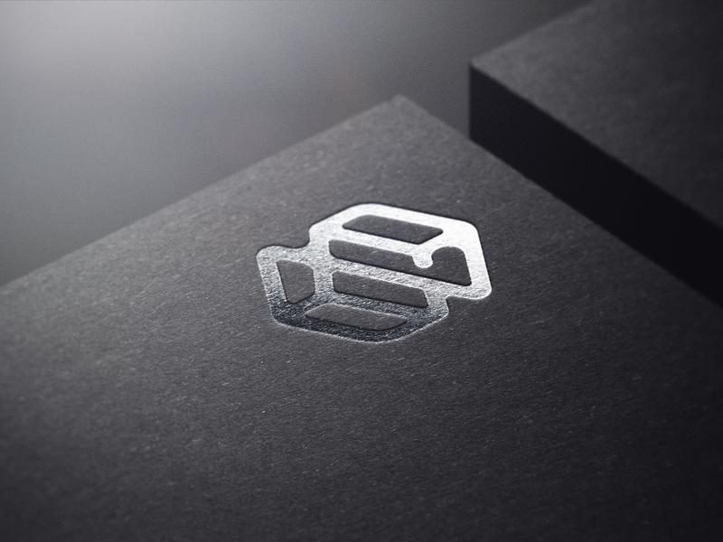 Stone monogram logo silver monogram stone artwork vector flat minimal logo design branding
