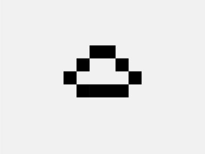 Pie pixel perfect pixel art lettering vector flat minimal logo design branding applepie cake yummy food pie pixel