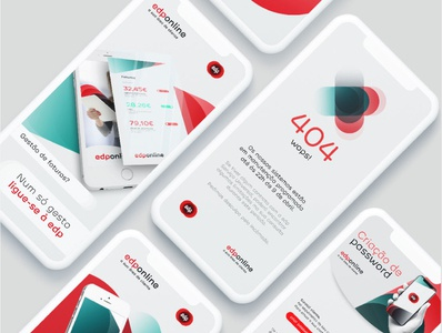 EDP online website web ux flat minimal design branding app design application uiux ui app edp