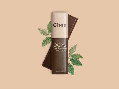 CHOA minimal artwork lettering typography chocolates chocolate packaging logo design branding chocolate bar chocolate package design package