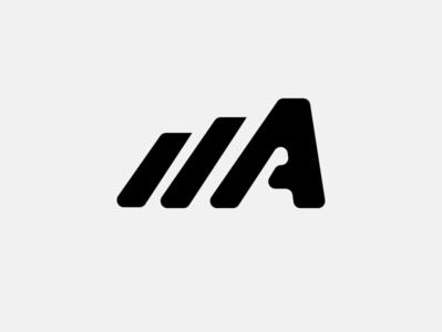 A monogram icon artwork typography vector flat minimal logo design branding