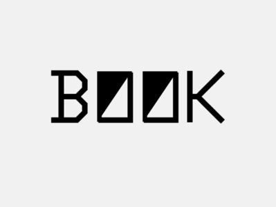 the BOOK artwork lettering typography vector flat book cover books book minimal logo design branding