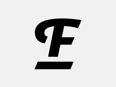 Personal Logo typography vector flat minimal logo design branding monogram design f monogram fagulha fagulha