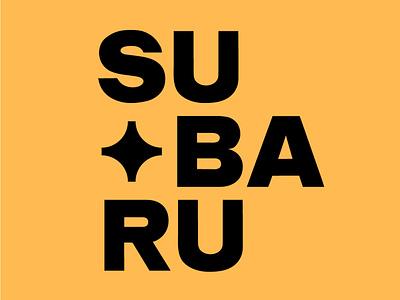 Subaru font awesome fonts font design font lettering artwork flat typography subaru subraru