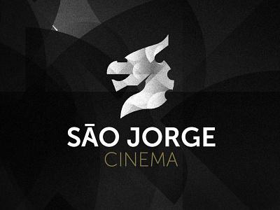 Cinema São Jorge cinema logo horse dragon art animal lettering typography minimal logo design branding cinema sao jorge