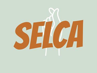 SELCA lettering artwork vector flat minimal logo design branding illustration typography selca