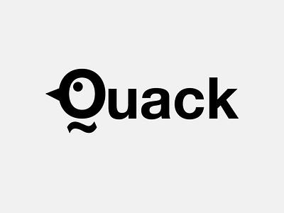 Quack! nature lettering typography vector flat minimal logo design branding animal duck quack