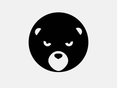 Baddy Bear angry bear animal illustration icon artwork vector flat minimal logo design branding