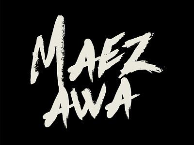 MAEZAWA typography art typographic lettering artwork vector flat minimal logo design branding typography font maezawa