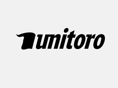 Unitoro typography vector flat minimal logo design branding business red farm animal touro bull