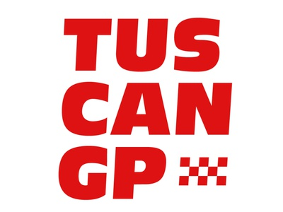 Tuscan GP lettering typography vector flat minimal logo design branding formula1 tuscangp f1 gp tuscan
