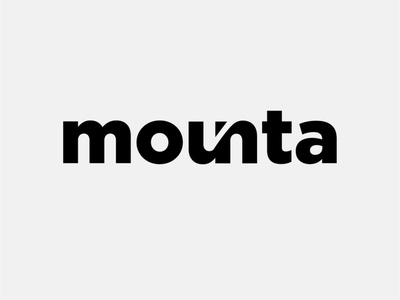 MOUNTA typography logo connect font awesome font lettering artwork typography vector flat minimal logo branding design