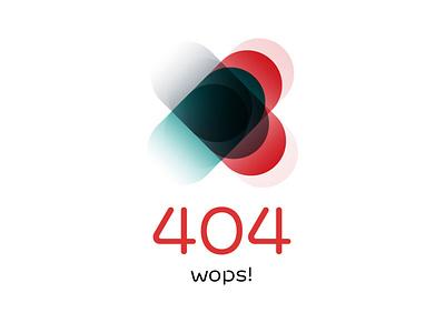WOPS! typography vector minimal branding design ux uxui 404 not found ui 404page 404 error page 404 wops online edp