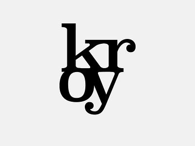 Kroy logotypedesign kroy icon lettering artwork typography vector flat minimal logo branding design