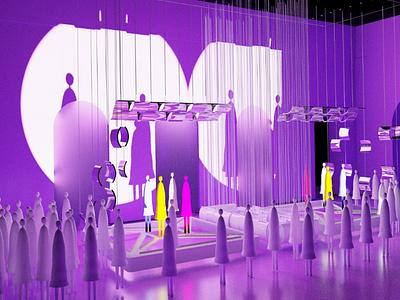 Stage Design illustrator ui model stage design illustration