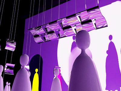 In the stage stage design stage ui design design ui render model 3d illustrator illustration