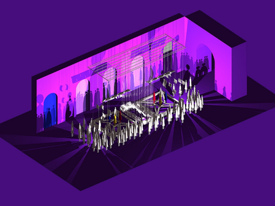 Out of the Stage model ui design ui stage design stage design illustrator illustration 3d model render 3d