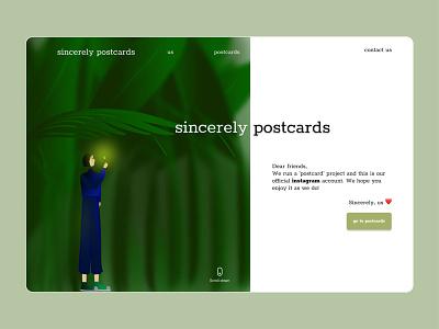 Sincerely Postcards | Website Design web design webdesign website ui ux vector branding design illustration figma