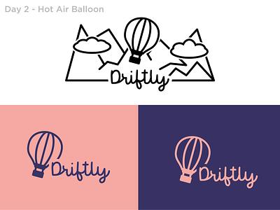 #2 - Hot Air Balloon logo design hot air balloon balloon dailylogo logochallenge dailylogochallenge logo vector design